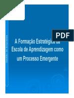 A Formacao Estrategica Da Como Um Processo Emergente- InCREMENTALISMO LÓGICO