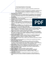 Terminología Empleada en Farmacología