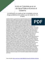 La Drogadiccion para estudiantes de Media colombia