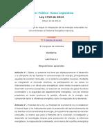 Ley 1715 de 2014