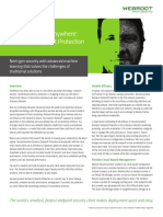 Webroot Endpoint Protection Datasheet