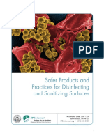 Safer Products and Practices for Disinfecting and Sanitizing Surfaces