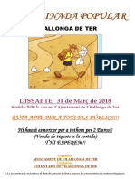 Cartell Caminada Popular 31-03-2018