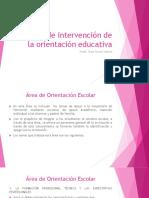 Áreas de Intervención de La Orientación Educativa