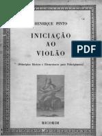 Henrique Pinto Iniciacao Ao Violao Volume I