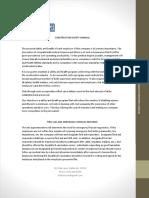 Tekhen Communications Safety Manual