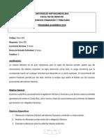 Programa de Derecho Financiero y Tributario 2018