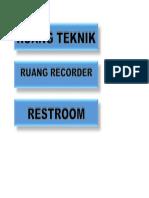 contoh Papan Nama Ruangan