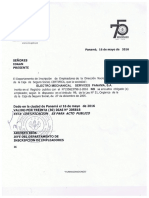 Electro Mechanical Services Panama - Paz y Salvo - MAYO 2016