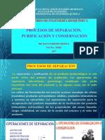 Separación, Purificación y Conservación