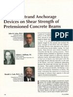 Effects of Strand Anchorage Devices on Shear Strength of Pretensioned Concrete Beams