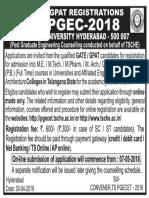 PGEC 2018 Notification
