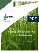 Cement 2020 Biomass Forum April 14, 2011 Technical Presentation