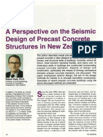 A Perspective on the Seismic Design of Precast Concrete Structures in New Zealand