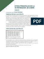 Parametros Principales en La Electro