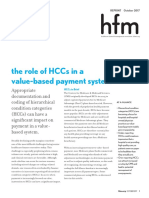 HCCs 201710 HFMA Article Reprint Role of HCCs in Value Based Payment
