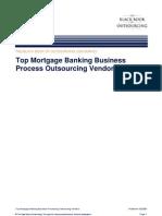 Top Mortgage Outsoucing Vendor
