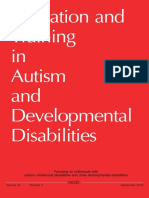 Education and Training in Autism and Develpment