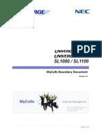 MyCalls Boundary Document v1.0
