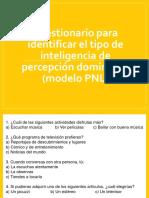 Cuestionario Para Identificar El Tipo de Inteligencia De