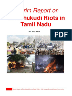 Interim Report on Thoothukudi Riots by VSRC