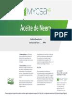 Aceite de Neem ESP Mycsa Label 1