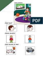 Comprension de Imagenes Niño Escucha Ambulancia