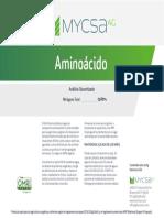 Aminoácido 80 ESP Label Mycsa
