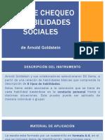 Lista de Chequeo de Habilidades Sociales de Goldstein