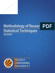 Methodology of Research and Statistical Techniques