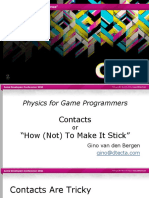 GDC11 Gino VanDenBergen Programming PhysicsTutorialContacts