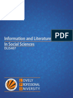 Information and Literature Survey in Social Sciences