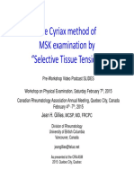 The Cyriax method of MSK examination ROM