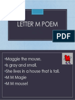 Letter M Poem