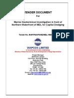 Tender Document for Geotechnical Survey