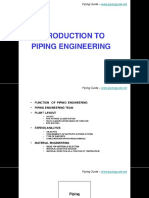 Introducction Piping Engineering