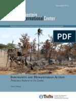 Inhumanity and Humanitarian Action 9-15-2014