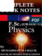 Complete Physics Notes First Year