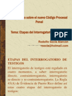 Etapas Del Interrogatorio de Testigos - Rodolfo Socla Alarcón