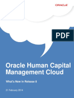 Oracle HCM Cloud Release 8 Whats New