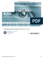 Teaching Information Privacy Law - TeachPrivacy