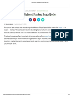 Learn About the Highest Paying Legal Jobs