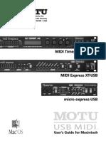 MIDI Timepiece AV USB User Guide Mac