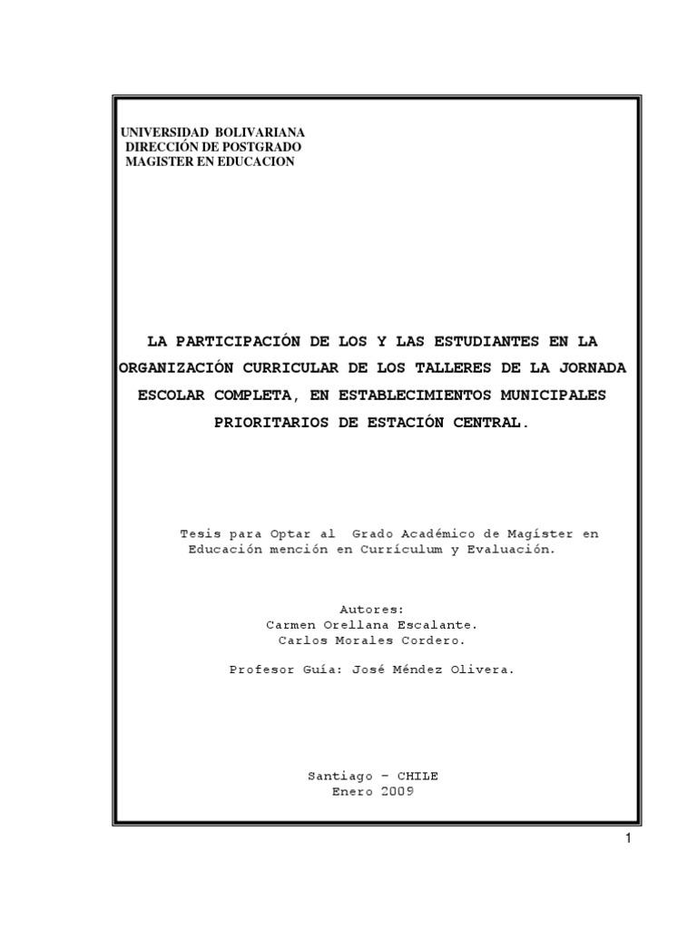 tesis sobre JEC Univerisidad Bolivariana