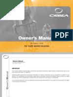 Orbea Manual Usa