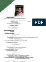 Curriculum Vitae de José Raimundo Noras