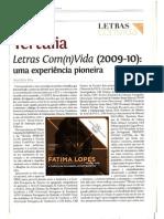 Páginas dedicadas à Tertúlia Letras com(n)Vida na Revista Letras com(n)Vida