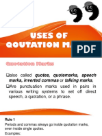 Use of Qoutation Marks