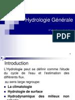 Hydrologie chapitre 1