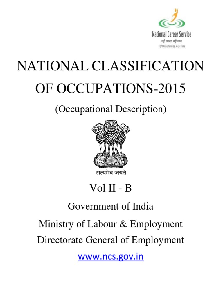 2015 Nco National Classification Of Occupations Vol Ii B International B275 Wiring Diagram Vegetables Plant Nursery
